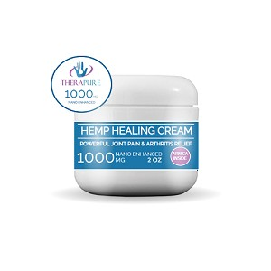 TheraPure Hemp Oil Healing Cream 1000mg (2 fl oz)