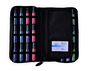 24-Bottle Essential Oil Rollon Presentation Case - 10 Pack